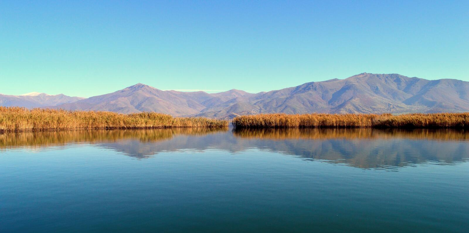 Download Lakescape stock photo. Image of horizon, natural, reflections - 47350384