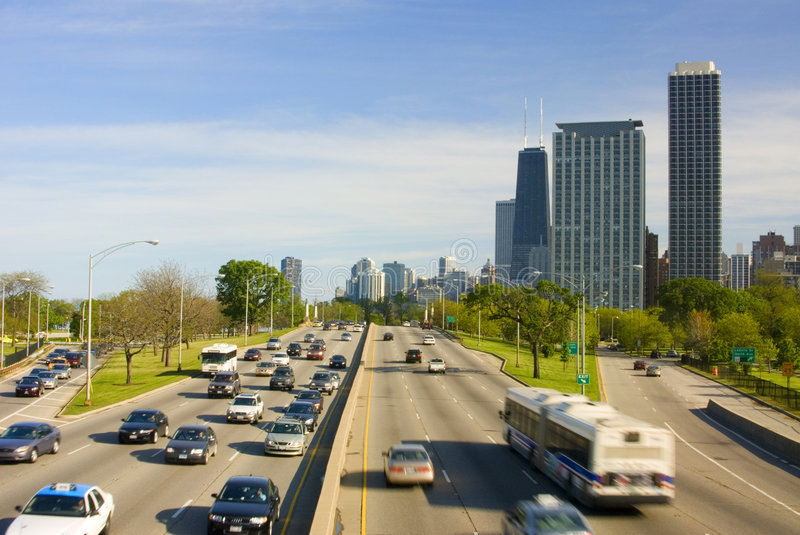 Download Lakeshore Drive stock photo. Image of early, flowing, commerce - 1260060