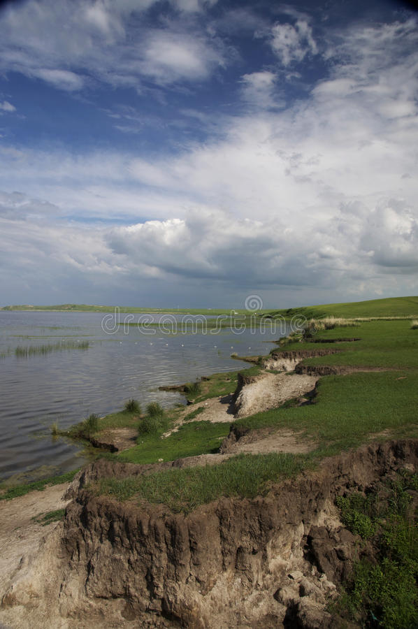 Lakeshore in Hulunbuir Grassland royalty free stock images