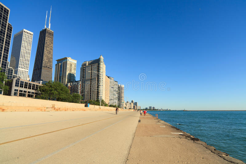 Lakeshore trail Chicago stock photography