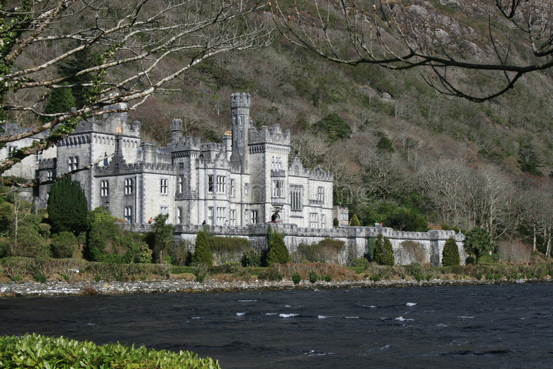 Lakeside Irish castle royalty free stock photo