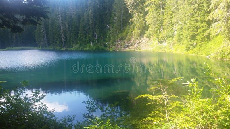 Lakeside Lounging. Lakeside, mountains, hiking, glacial royalty free stock photo