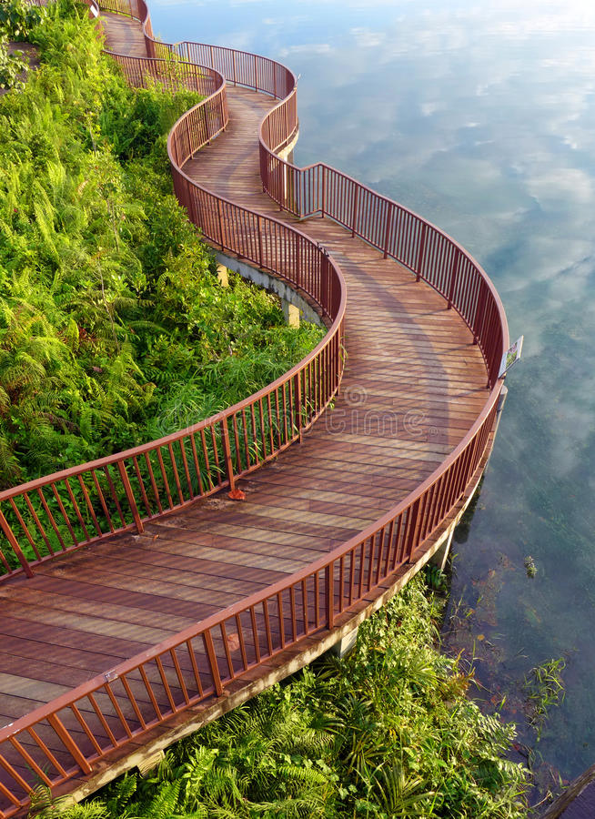 Download Lakeside nature walk way stock image. Image of curved - 34127577