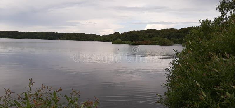 Lakeside in Noorwegen stock foto