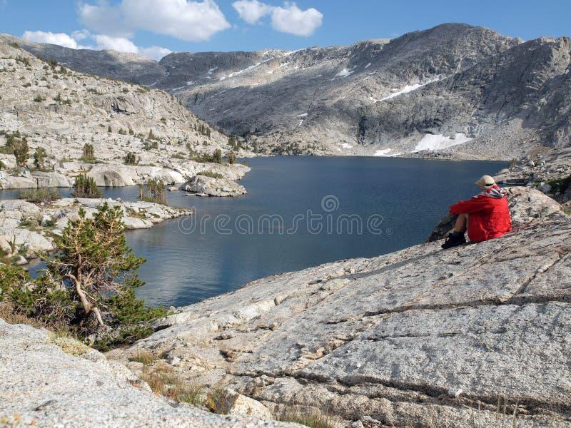 Download Lakeside Rest stock image. Image of sierra, park, jacket - 14360917