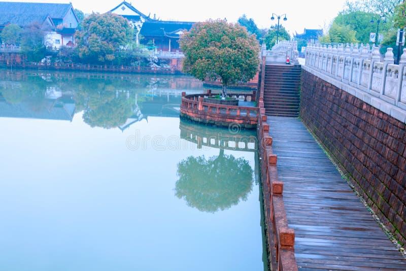 Lakeside Route-Nan-Tchang Mei Lake Scenic Area photographie stock libre de droits