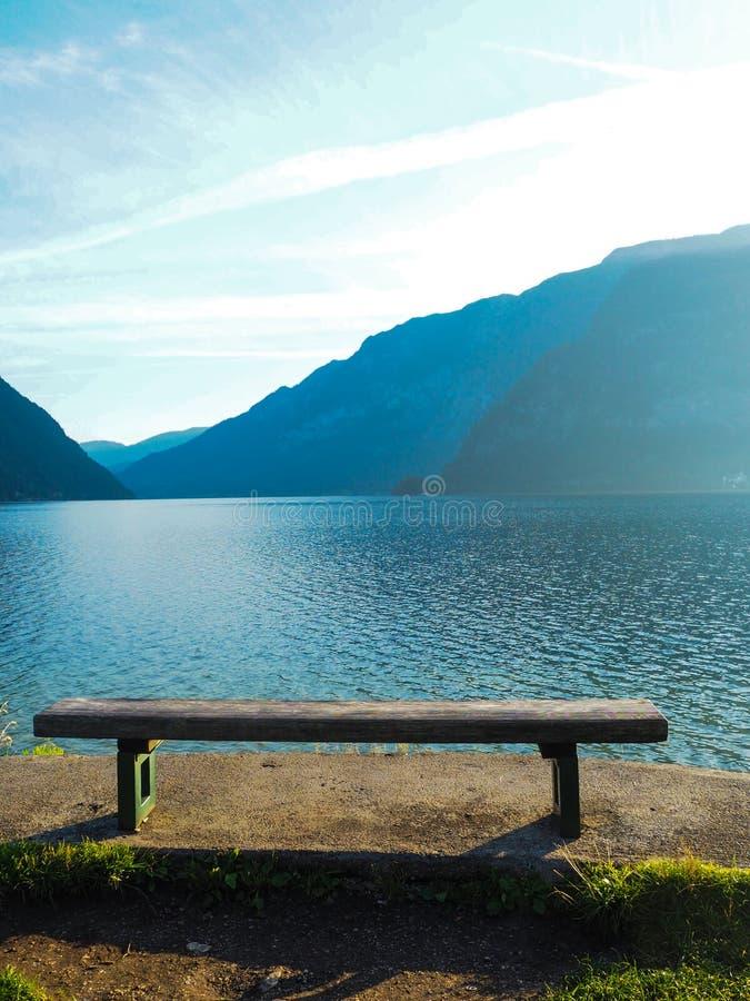Lakeside seat stock image