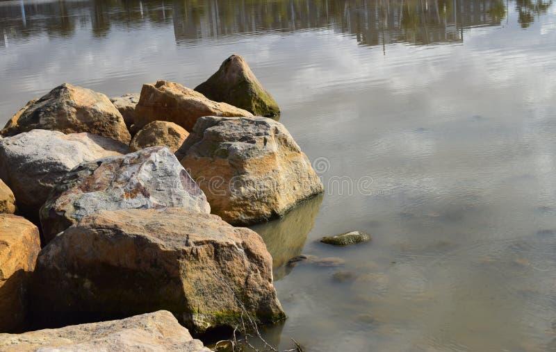 Lakesidestenblock royaltyfri foto