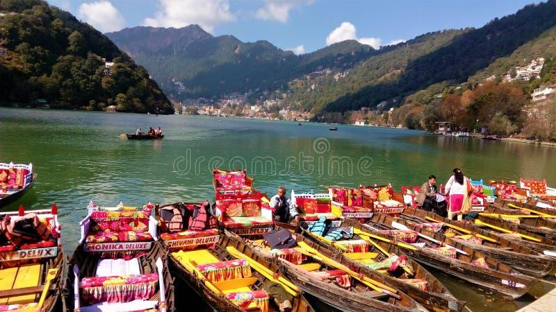 Lakeview bonito em Nainital imagens de stock royalty free