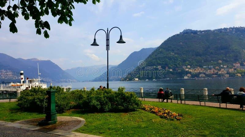 Lakeview Como, Italy royalty free stock photo