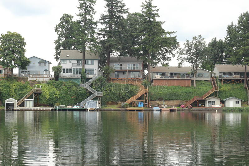 Lakeview domy obrazy stock