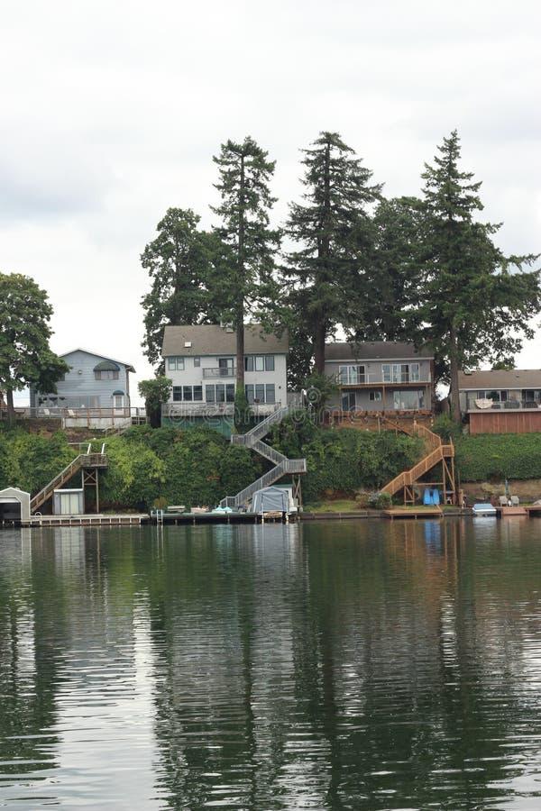 Lakeview domy obraz stock
