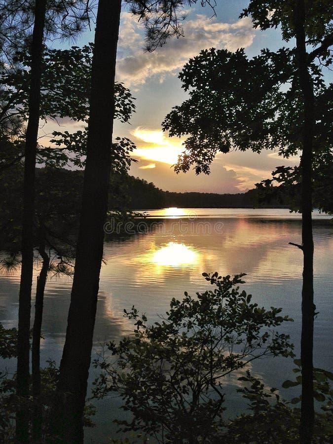 Lakeview ensamhet, North Carolina fotografering för bildbyråer