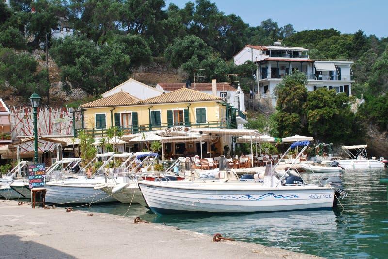 Lakka schronienie, Paxos wyspa zdjęcie royalty free