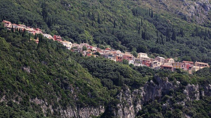 Lakones by, Korfu, Grekland royaltyfri fotografi