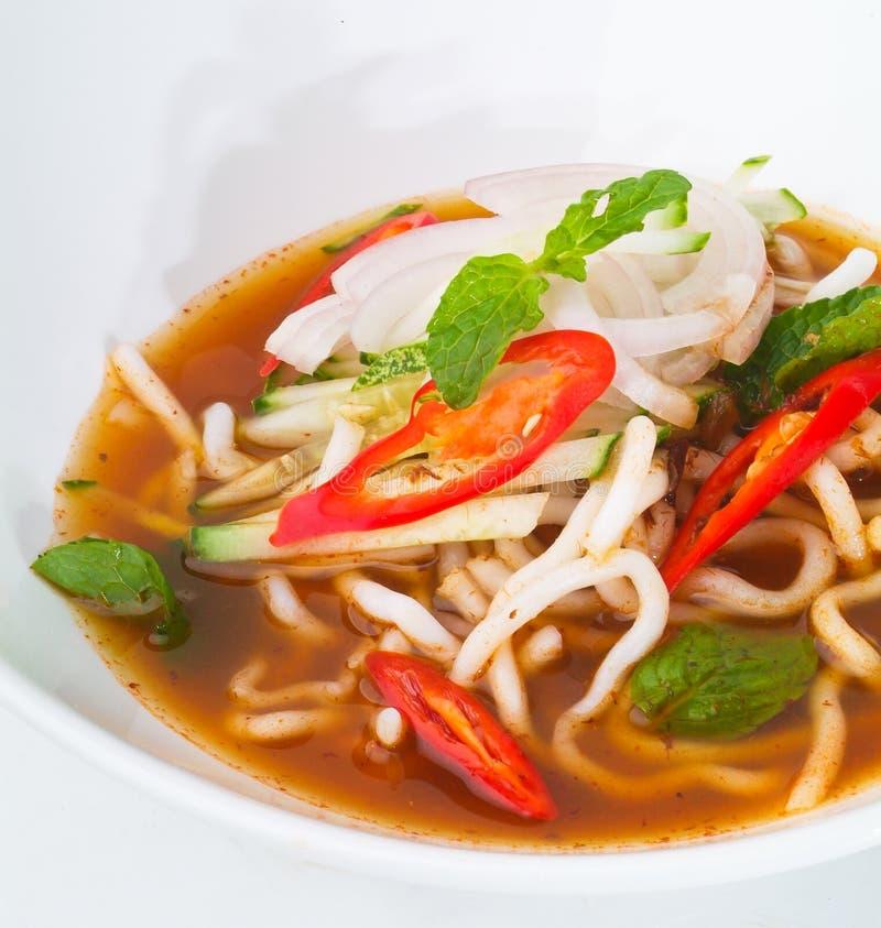 Laksa de Assam, alimento malaio foto de stock