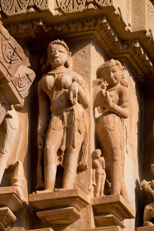 Lakshamana寺庙在克久拉霍 免版税库存照片