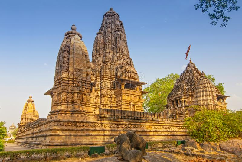 Lakshmana Temple, located within the Western Group of temples at Khajuraho in Madhya Pradesh, India stock photos