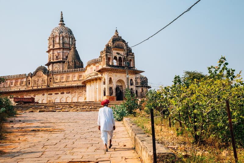 Lakshmi Narayan Mandir ancient ruins at Orchha, India stock photos
