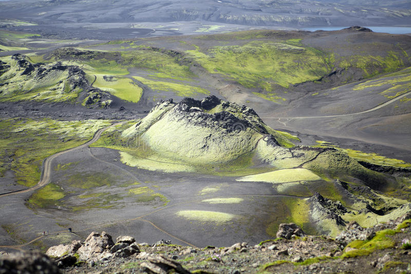 Laky crater volcano stock image