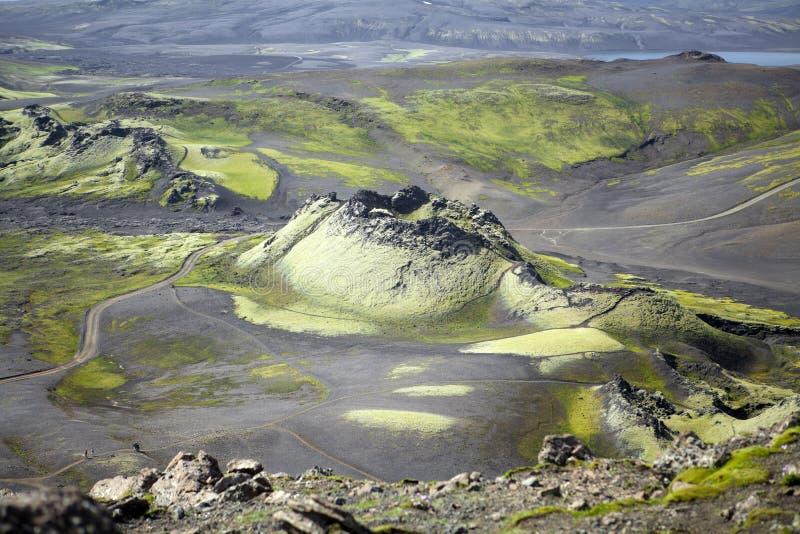 Laky kratervulkan fotografering för bildbyråer