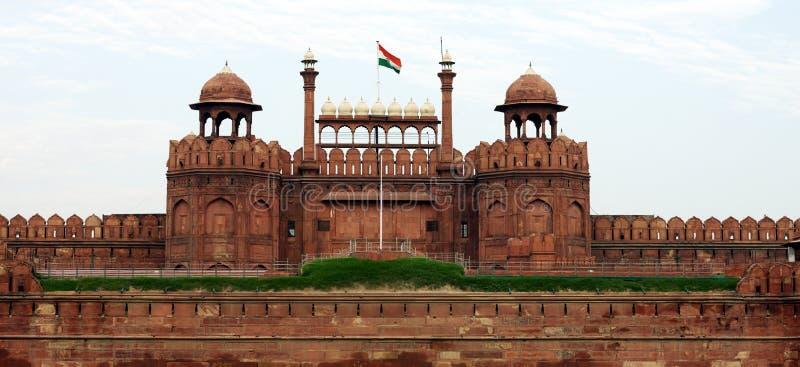 Lal Qila Red Fort in Delhi stockbild