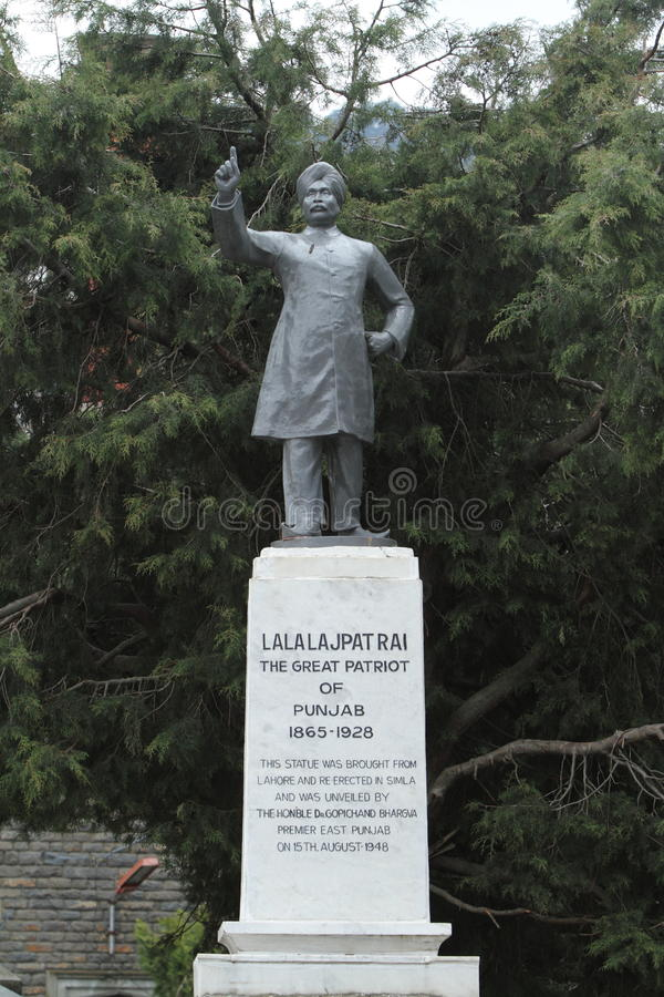 Lala Lajpat Rai statue of Shimla in India. The Lala Lajpat Rai statue of Shimla in India stock image