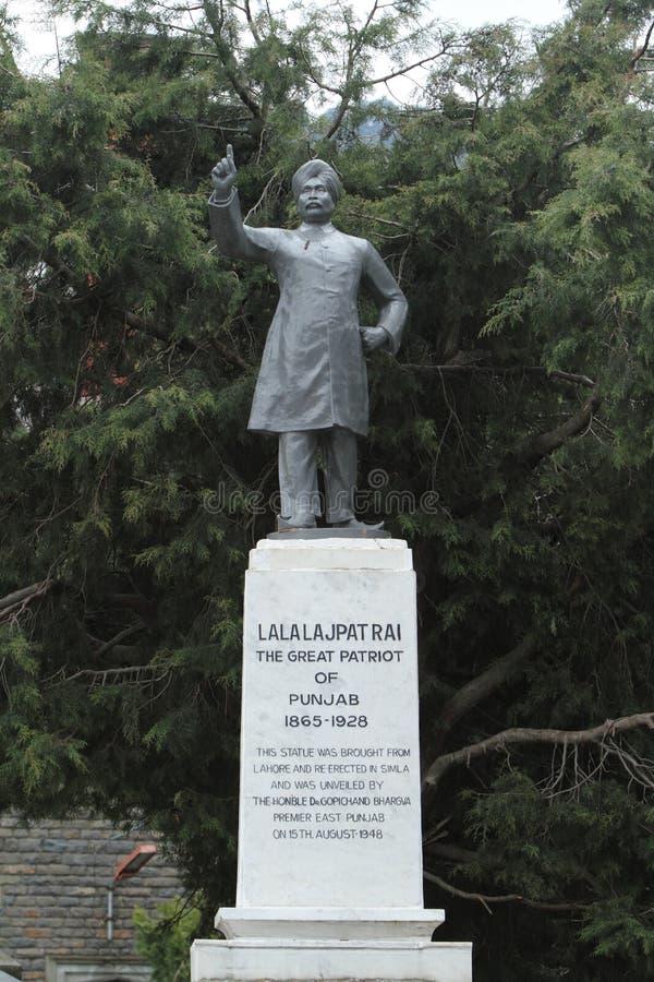 Lala Lajpat Rai staty av Shimla i Indien fotografering för bildbyråer