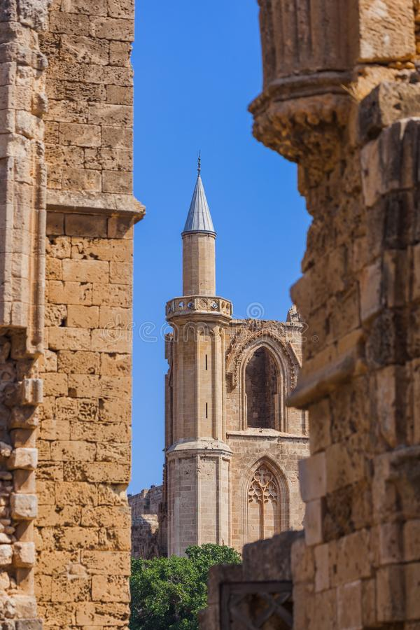 Lala Mustafa Pasha Mosque in Famagusta - Northern Cyprus stock images
