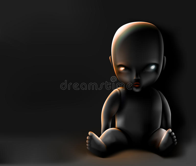 Lala na ciemnym tle ilustracja wektor