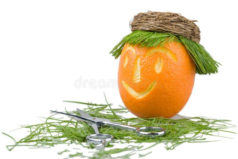 lala salon włosiany pomarańczowy fotografia stock