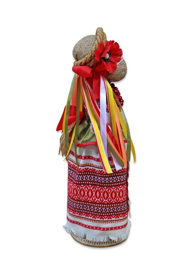 Lala w krajowym Ukraińskim kostiumu na dobrze zdjęcie royalty free