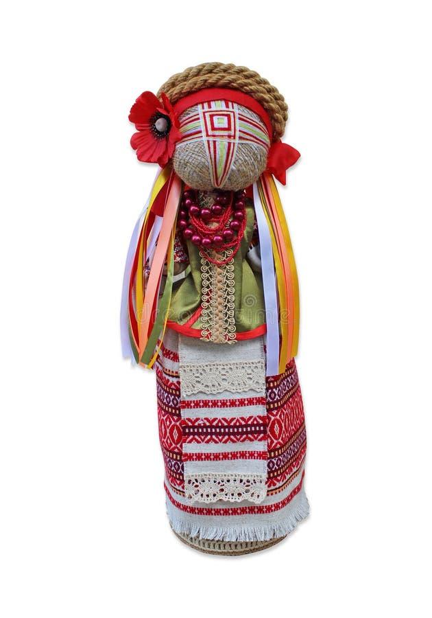 Lala w krajowym Ukraińskim kostiumu w przodzie obraz stock