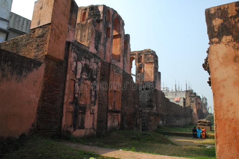 Lalbagh fort of Dhaka stock image