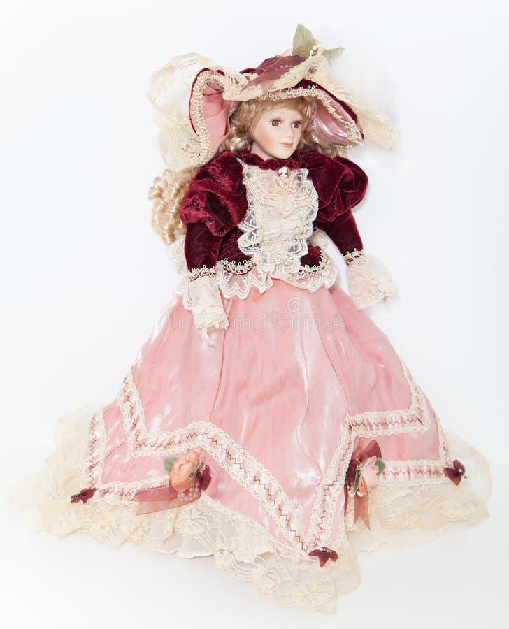 Lali dama w eleganckiej aksamit sukni zdjęcie royalty free