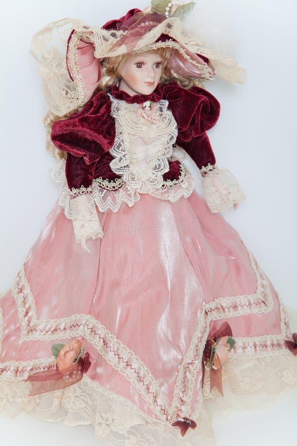 Lali dama w eleganckiej aksamit sukni fotografia royalty free