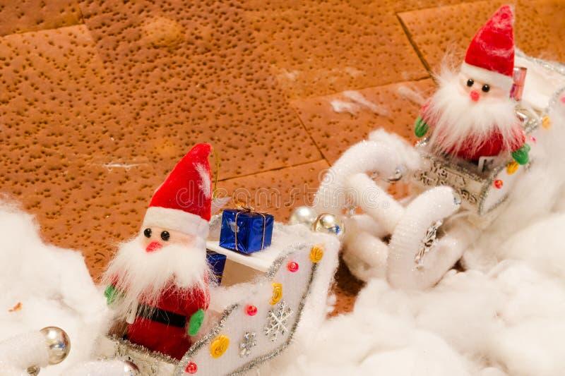 Lali tkanina Santa w śniegu fotografia royalty free