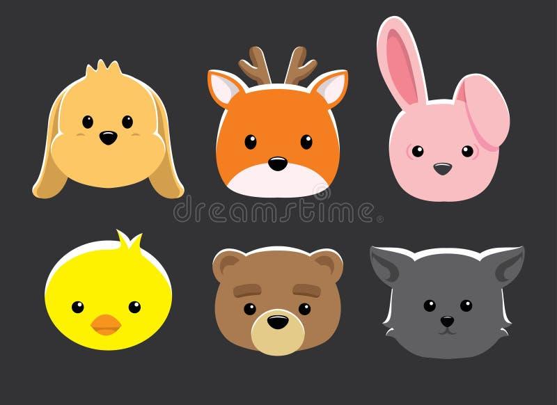 Download Lali Zwierzę Przewodzi Wektorową Ilustrację Ilustracja Wektor - Ilustracja złożonej z avatars, pomarańcze: 57668513