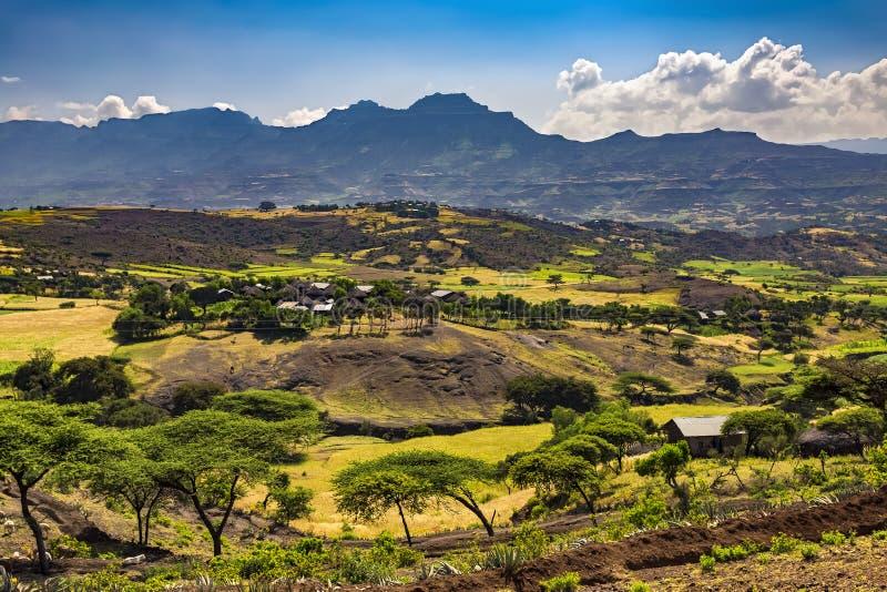 Lalibela bygd, Etiopien fotografering för bildbyråer