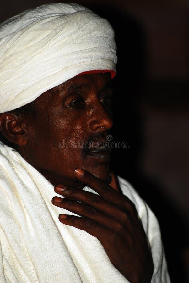 Lalibela, Ethiopië, 14 Juni 2009: Portret van de oude mens royalty-vrije stock foto's