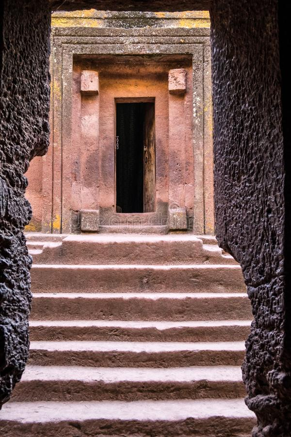 Lalibela, Ethiopia. Famous Rock-Hewn Church of Saint George - Bete Giyorgis. Famous Rock-Hewn Church of Saint George - Bete Giyorgis in Lalibela, Ethiopia stock photos