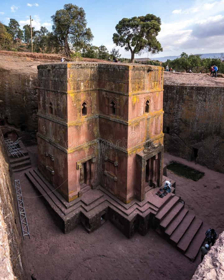 Lalibela, Ethiopia. Famous Rock-Hewn Church of Saint George - Bete Giyorgis. Famous Rock-Hewn Church of Saint George - Bete Giyorgis in Lalibela, Ethiopia royalty free stock image