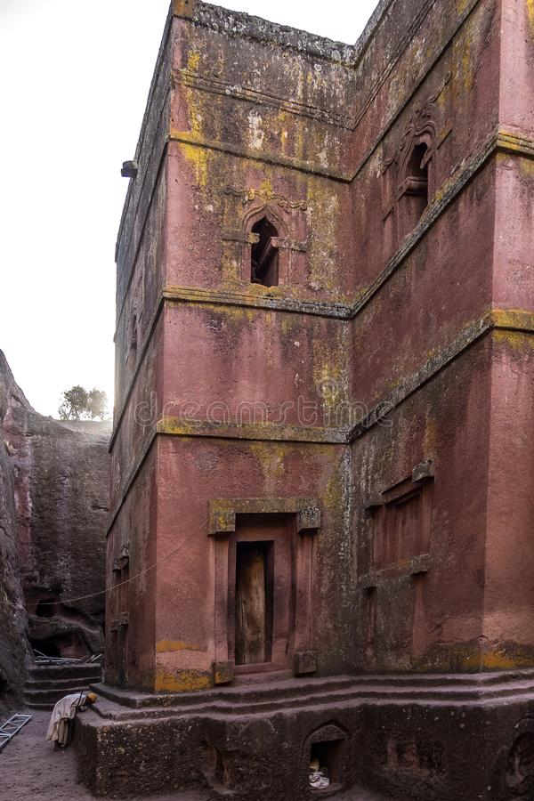 Lalibela, Ethiopia. Famous Rock-Hewn Church of Saint George - Bete Giyorgis. Famous Rock-Hewn Church of Saint George - Bete Giyorgis in Lalibela, Ethiopia stock images