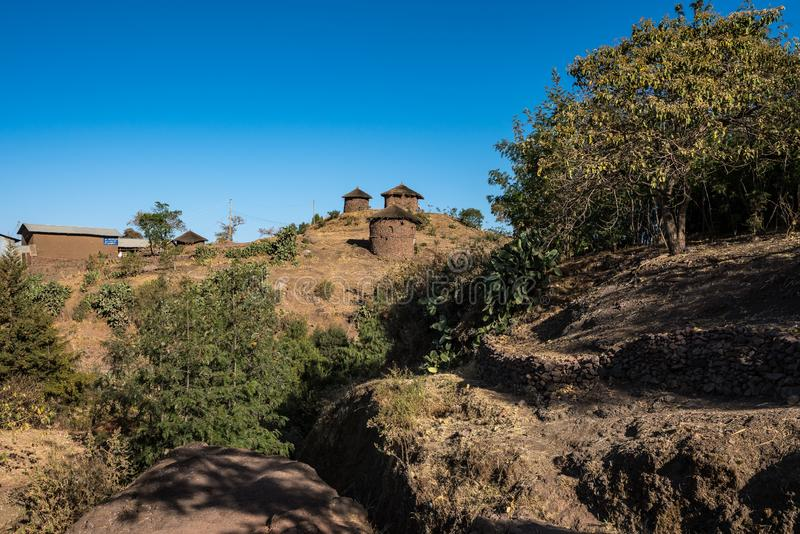 Lalibela, Ethiopia. Famous Rock-Hewn Church of Saint George - Bete Giyorgis. Famous Rock-Hewn Church of Saint George - Bete Giyorgis in Lalibela, Ethiopia stock image