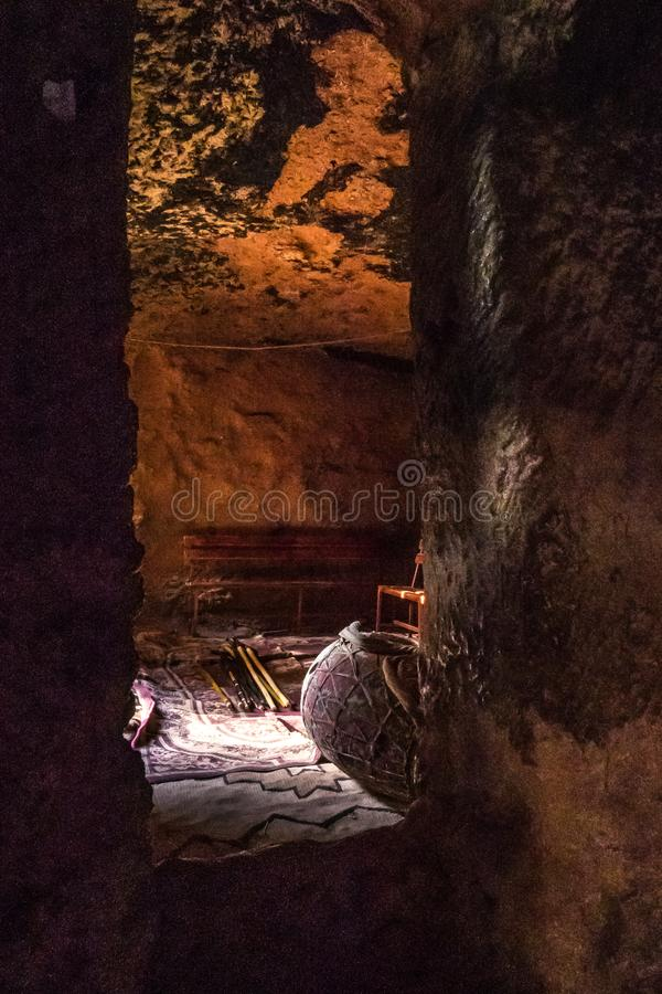 Lalibela, Ethiopia. Famous Rock-Hewn Church of Saint George - Bete Giyorgis. Famous Rock-Hewn Church of Saint George - Bete Giyorgis in Lalibela, Ethiopia royalty free stock images