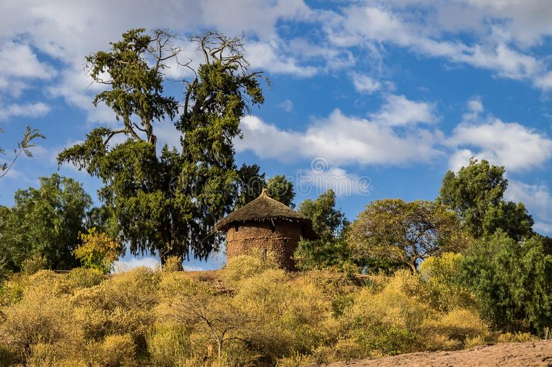 Lalibela, Ethiopia. Famous Rock-Hewn Church of Saint George - Bete Giyorgis royalty free stock photos