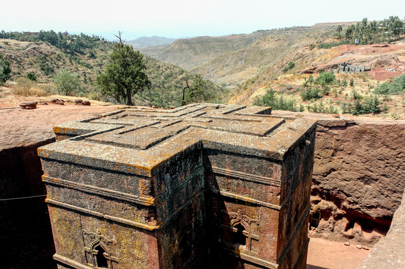 Lalibela. St. georgys church of lalibela, ethiopia. Lalibela is a town in northern Ethiopia, known for its monolithic churches. Lalibela is one of Ethiopia's stock photos