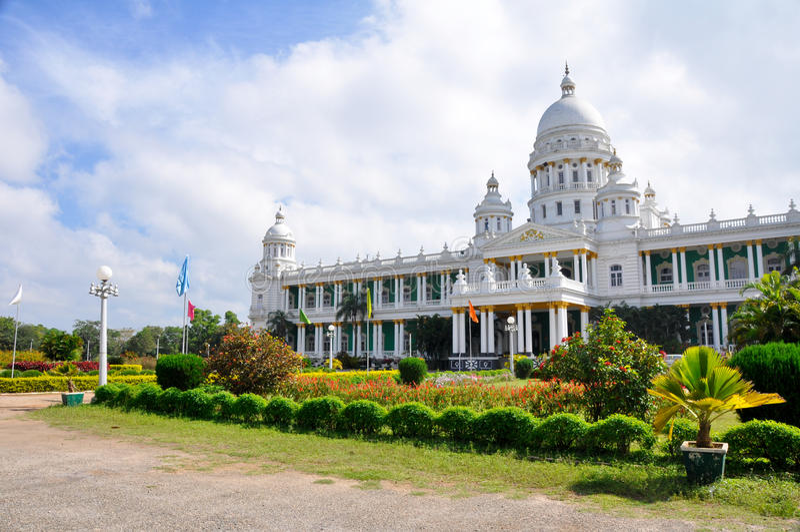 Lalitha Mahal Palace, Mysore (India). Lalitha Mahal Palace, Mysore in India stock photography
