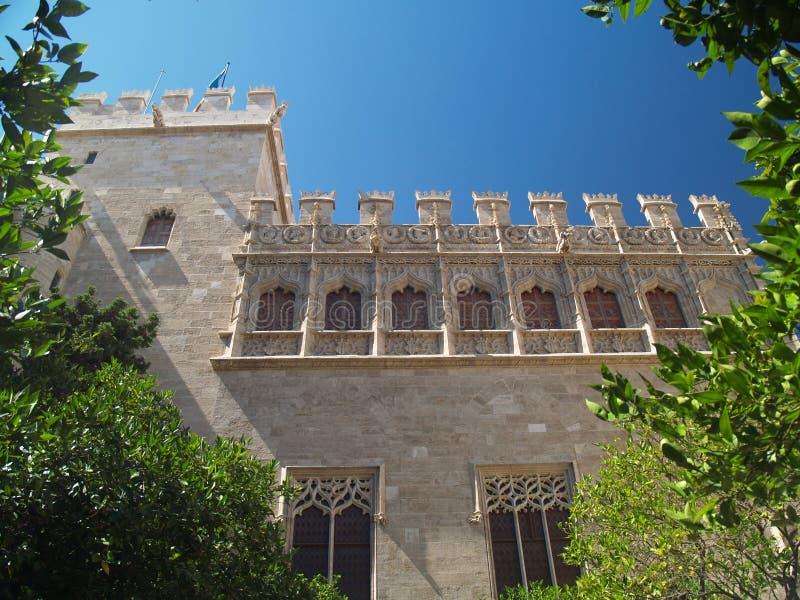 LaLonja de la seda â det silk utbytet royaltyfria bilder