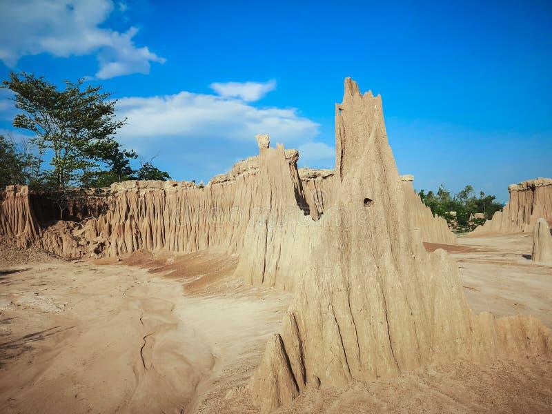 Lalu de grote canion van Thailand Lalu is een natuurlijke aantrekkelijkheid in de provincie van Sa Kaeo, Thailand stock afbeelding